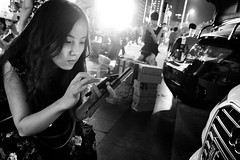 Snapshot_0288 (Huang Qing) Tags: street blackandwhite bw girl monochrome night candid 28mm streetphotography ricoh grd grd4