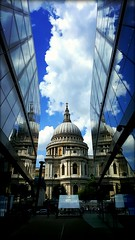 St. Pauls (will668) Tags: stpauls stpaulscathedral london centrallondon buildings oldandnew sky clouds reflections steelandglass