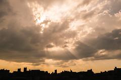 Sunset - Panasonic GM1 & LEICA DG SUMMILUX 15mm F1.7 ASPH. (TORO*) Tags: panasonic gm1 leica dg summilux 15 15mm 17 f17 asph aspherical osaka japan sunset outside cloud ladder jacob