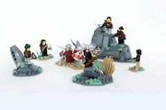 Wolfpack Ambush (jsnyder002) Tags: brickfair yeoldmerrybattleground lego moc creation landscape rockwork boulder path
