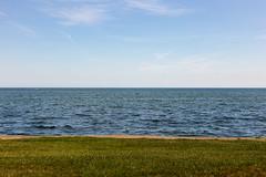Lake St. Clair (Beau Finley) Tags: grossepointeshores michigan unitedstates us water lake lakestclair detroit grossepointe beaufinley color grass shore lakeshore usa