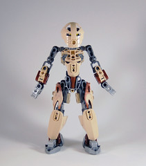 MOV - M'azzal - Front (0nuku) Tags: bionicle lego toa sand fire stone banserko mazzal scythe gunblade hau komau