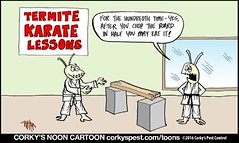 CarterTermiteKarateToon1200x717 (CorkysPestControl) Tags: funny cartoon jokes corkystoon daily