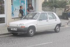 Renault 5 Campus (occama) Tags: f783jta renault 5 campus 1989 white old car cornwall uk french bangernomics