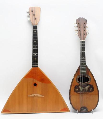 Mandolin with Mother of Pearl ($100.80) & Russian Balalaika ($56.00)