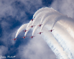 Red Arrows (jason hackett) Tags: redarrows stunts outdoor aviation clouds planes jets engine sky blue