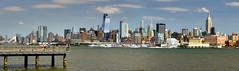 Manhattan Panorama (C r u s a d e r) Tags: manhattan nyc ny nj newjersey newyork usa skyscrapers tall buildings skyline pentaxk3 ptguipro