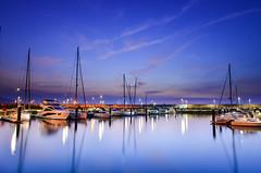(DSC_1233) (nans0410(busy)) Tags: taiwan ilan toucheng wushiport sunrise dawn boat reflection sky cloud outdoors scenery