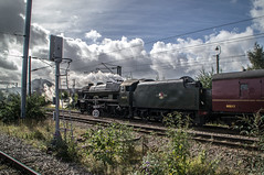 46115 - 1Z25 - Grantham - 25.09.2016(3) (Tom Watson 70013) Tags: grantham goods loop steam train rail railway station tour 1z25 derby derbyshire skegness children hospital royal scot 46115 lms 6115 guardsman wcrc engine west coast company