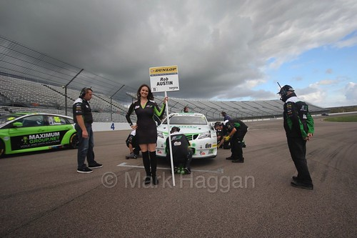 Rob Austin's grid spot at Rockingham, August 2016
