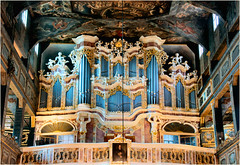 the organ............ (atsjebosma) Tags: church organ orgel kerk decoraties decorations wooden churchofpeace vredeskerk unescoworldheritage 2001 atsjebosma switnica poland polen august augustus 2016