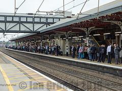 Grantham Commute 6188 (stagedoor) Tags: grantham railwaystation rushhour commuters platform1 building architecture uk england olympus copyright em1 lincolnshire eastmidlands town southkesteven