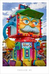 Fuelled up (Parallax Corporation) Tags: southport pleasureland amusements funfair fairgroundrides seaside esso fuel squarehead moustache colouredlights