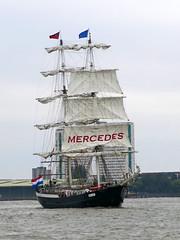 Mercedes Sailing Ship (surreyblonde) Tags: london thames riverthames river water tide boats ships tidal portoflondon vessel floating canon g15 tallship sailingship sails mercedes amsterdam brig