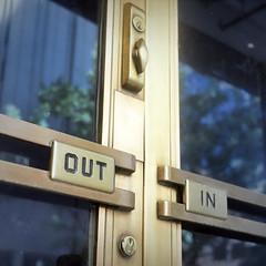 Rolleiflex 622 Art Deco Door (rrunnertexas) Tags: rolleiflex 622 oldstandard old standard artdeco fort worth fortworth doorhandle kodak ektar 400 out lock door texas downtown artdecobuilding