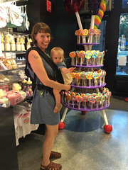 Dylan's candy bar (elizajanecurtis) Tags: 17months dylanscandybar eliza ergo hattie lollipops newyork unionsquare