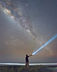 Milky Way from Depok Beach (SadAgus) Tags: milkyway nightphotography nightscaper indonesia galaksi starphotography seascape longexposure starscape