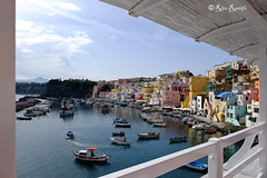 Procida. Corricella, fishermen village (R come Rit@) Tags: italia italy ritarestifo photography streetphotography procida island campania napoli vacation vacanze estate summer travel travelnotes turismo turism colors colori house houses architettura architecture details landscape landscapes panorama panorami veduta vedute view views buildings building corricella fishermenvillage marinacorricella fishermen village
