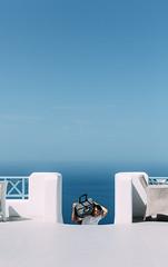 Santorini Honeymoon (One_Penny) Tags: aegean greece griechenland island santorin santorini canon6d travel gis minimal man people suitcase sky blue white hotel stairs staircase heavy honeymoon tourist tourism imerovigli caldera mediterraneansea sea mediterranean vacation staff work
