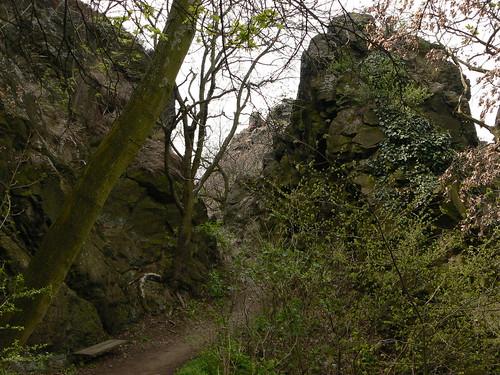 Weg zum Berggipfel