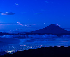 Fuji in the blue (shinichiro*) Tags:    jp 20160927ds39352 2016 crazyshin nikond4s afsnikkor70200mmf28ged fuji  yamanashi japan cloud    september autumn