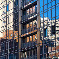 Gramercy Starck Looking Glass (Joel Raskin) Tags: reflections reflectiveglass fragmentedreflections lines geometric patterns rectangles gramercystarck mirroredglass facade glassfacade e23rdst nyc manhattan city lumixgx8 gx8