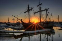 Pinta and Nina (gatorinsc) Tags: pinta nina ships boats ditto landing huntsville alabama waterways tennessee river hdr noflash napg