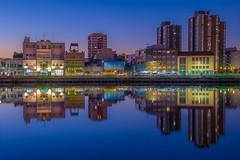"""La Boca"" (karinavera) Tags: travel nikond5300 buenosaires night building sunset colors argentina laboca wallart cityscape reflection longexposure city"