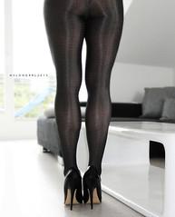 R0011391 (nylongrrl) Tags: 6 black shiny pumps highheels arch shine legs tights glossy heels gloss heel stiletto ph pantyhose nylon fuss nylons garment collant 6inch 2013 orublu