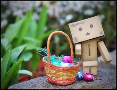 Danbo at Easter (Inspiredphotos) Tags: cute easter fun costume basket egg danbo inspiredphotos danboard
