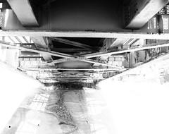 GH&H Railroad Bridge, South Houston, Texas 1303201038BW (Patrick Feller) Tags: steel pony through girder railroad bridge ghh galveston houston henderson train beam south harris county texas black white blackandwhite blackwhite bw monochrome pontist united states north america