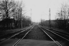 Radotn (kocmonosy) Tags: film analog 35mm prague railway praha canonae1program radotn radotin 50mmf18 vlak koleje ilfordpan400