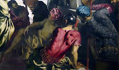 Tintoretto, The Miracle of the Slave, detail with figure at bottom right
