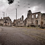 The preserved war time ruins of the French town of Oradour-sur-Glane.