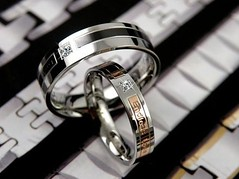 Custom Name Korean His Her Titanium Steel Couple Rings Set of Two (gullei) Tags: name inscribed love couples bands wedding engagement personalized commitment rings for two his hers girlfriend boyfriend jewelry valentines gulleicom matching engraved engravable custom customized cheap elegant cute unique