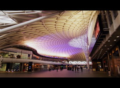 Train Waiting (dhcomet) Tags: roof london station early waiting railway dome wait kingscross concourse networkrail