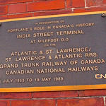 Grand Trunk Railway Steamship Offices / India Street Terminal (1903) – Canadian National Railways plaque thumbnail