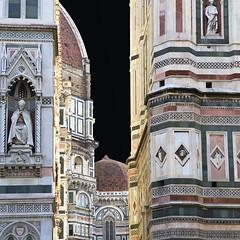 tra Giotto e Brunelleschi (* onda *) Tags: italia arte firenze duomo campaniledigiotto cupoladelbrunelleschi