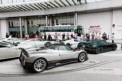Hypercars (- Icy J -) Tags: road street morning white green cars car club race silver dark hongkong drive md unique sunday group large fast s special hong kong exotic f stealth annual carbon apollo loud meet supercar zonda koenigsegg fibre pagani smd gumpert huayra hypercar agera