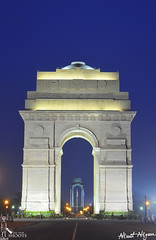Blue Hour on India Gate... (nimitnigam) Tags: life street new blue india color monument architecture night photography nikon gate long exposure photographer shot photos delhi indian landmarks images structure stop hour shoots monuments magical nimit nigam d3000