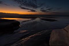 Twilight Reflections (itsgottabered) Tags: ocean orange seascape reflection clouds canon dawn rocks glow australia wideangle queensland orangesky sunshinecoast ptcartwright 1740lusm hitechfilters 5dmkii