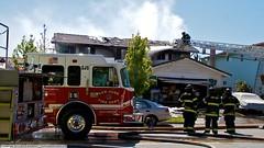 3 Alarm Fire in San Jose Foothills (YFD) Tags: california usa canon fire action 911 sanjose firetruck fireengine sjfd emergency ems firedepartment hitech spartan gladiator pumper eos7d