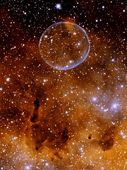 Soap Bubble Nebula Wallpaper (sjrankin) Tags: wallpaper edited background nasa nebula tablet retina soapbubble noao soapbubblenebula nationalopticalastronomyobservatory retinaresolution auranoao 22april2013 png7551