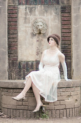 IMG_6255 (beccaspics) Tags: 1920s beagle vintage downtown flapper winstonsalem cloche reynoldahouse themedphotoshoot