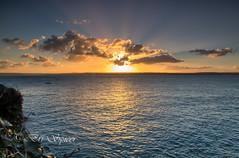 cloudscape (Through Bri`s Lens) Tags: sea cloud sun nature clouds boat cornwall stives mothernature fishingboatcanon7d