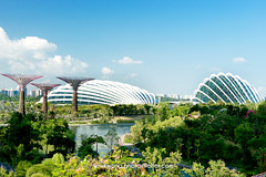 Garden By the Bay 01 (yewkwangphoto) Tags: flowers trees sea cloud lake seascape tourism water horizontal architecture landscape singapore asia cityscape country bluesky tourist tropical placeofinterest buildingstructure flowerdome photocategory yewkwang gardenbythebay photographybyyewkwang
