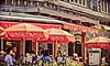 La Bocca Restaurant & Bar (A Great Capture) Tags: red canada bar square whistler restaurant la village bc britishcolumbia gelato umbrellas westcoast bocca labocca 1866 ald ash2276 ashleyduffus vancouver2010c