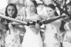 Girls with Fire Power! (ZekaG) Tags: california park girls blackandwhite nature forest bride women photographer weding rifles bridesmaids guns sacramento norcal marysville firepower sactown lixximphotography willowcreekevents brownvalley