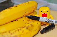 Why ripe bananas have spots (WindUpDucks) Tags: brown black yellow banana spots domo qee ripe toy2r