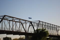Dirigible (ACM_12185) Tags: street bridge urban usa sanantonio puente calle texas airship urbano dirigible